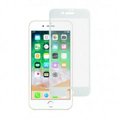 "Folie Sticla BlueStar pentru iPhone 7 & iPhone 8 55"" 5D Full Cover acopera tot ecranul Full Glue Alb"