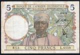Africa Occidentala 5 Francs S6559 1939