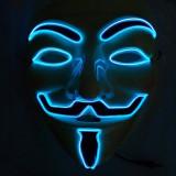 Masca Anonymous luminoasa, 3 moduri iluminare, marime universala, fixare elastica