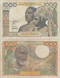 1970, 1.000 francs (P-703 Kn) - Senegal (Statele Africane de Vest)!