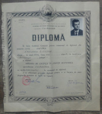 Diploma bacalaureat in contabilitate// RSR, 1969 foto