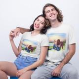 """Cumpara ieftin Set tricouri personalizate cuplu """"Forever"""" (Culoare: Alb, Marime tricou barbat:..."""