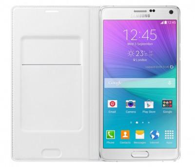 Husa originala Samsung Galaxy Note 4 N910F N910 SM-N910 EF-WN910BWEGWW + folie foto