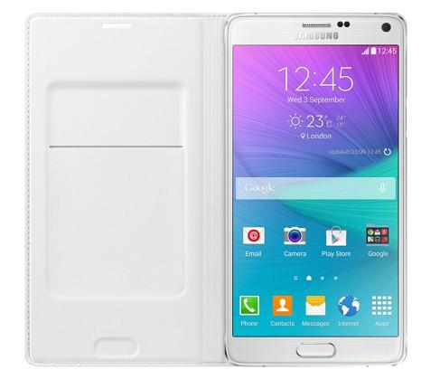 Husa originala Samsung Galaxy Note 4 N910F N910 SM-N910 EF-WN910BWEGWW + folie