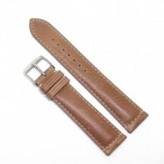 Curea de ceas din piele gri HCraft 20mm 22mm WZ3476 Camel