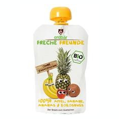 Piure de Mere Banane Ananas si Cocos Bio Erdbar 100gr Cod: 4260249140103