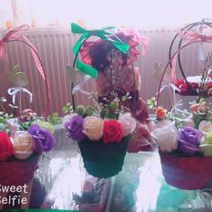 Aranjamente florale , realizate cu flori de sapun