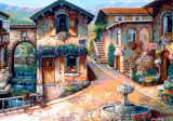 Puzzle Bluebird - The Fountain On The Square 1.000 piese (70120)