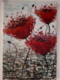 Etheric World _Tablou pictat in acrilice, 28/37cm, Original.