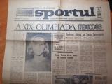 Sportul 21 octombrie 1968-jocurile olimpice din mexic ,UTA arad domina divizia A