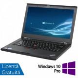 Laptop LENOVO ThinkPad T430, Intel Core i5-3320M 2.60GHz, 4GB DDR3, 120GB SSD, DVD-RW, 14 Inch, Webcam + Windows 10 Pro