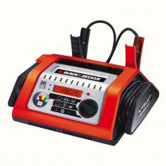 Redresor baterie auto Black & Decker 12V 20A incarcator automat cu display digital indicator incarcare si functie de diagnoza baterii