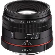 Obiectiv Foto Pentax HD DA 35mm F/2.8 Macro Limited Black