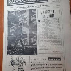 ziarul societatea anul 1,nr.1 din 2-8 aprilie  1990-prima aparitie