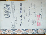 Manual/Carte de muzica, clasa I- a, 1944, bibliofilie
