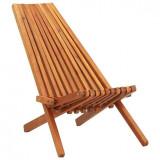 Șezlong de exterior pliabil, lemn masiv de acacia