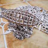 Cumpara ieftin Zepelin Cu Roți 3D Puzzle DIY Mecanic