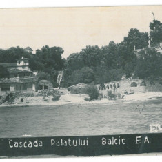 2541 - BALCIC, cascada Palatului, Romania - old postcard, real PHOTO - unused