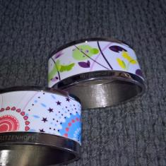 Doua inele de servetele din metal