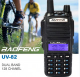 Statie Radio Baofeng UV 82 Dual Band Transceiver 5W 128 canale Radio FM
