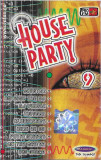 Caseta -House Party 9-, originala, holograma, techno