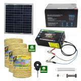 Gard electric cu Panou solar 3,1J putere cu 3000m Fir 160Kg cu acumulator 12Ah