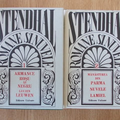 STENDHAL- ROMANE SI NUVELE- VOL. 1 SI 2, cartonate, supracoperta- editie de lux
