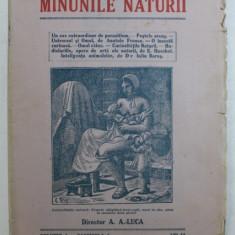 MINUNILE NATURII - PUBLICATIUNE PERIODICA , VOLUMUL I - FASCICULA 3 , EDITIE INTERBELICA