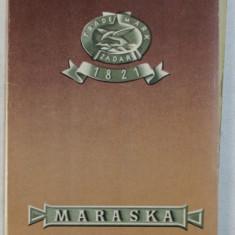 PLIANT DE PREZENTARE A FABRICII DE BAUTURI ALCOOLICE SI DULCIURI ' MARASKA ' , ZAGREB , ANII 60 '