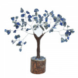 Copac Feng Shui cu 100 pietre naturale lapis lazuli pentru birou