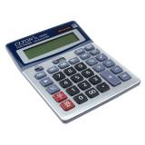 Calculator de birou, alimentare duala, 12 digiti, afisaj mare, albastru, PRC