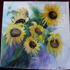 Floarea soarelui 1-pictura ulei pe panza