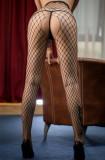 Dres Ciorapi Nude Stockings Bodystocking Stocking Net Plasa Mare Open Crotch, Negru, Marime universala