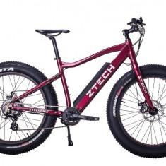 Bicicleta electrica cu cadru aluminiu ZT-87 FAT-bike ROSU