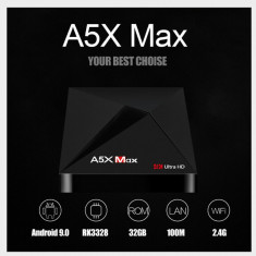 Mini PC SMART TV BOX, A5X Max Android 9.0, 4/32GB ROM, Bluetooth, Netflix