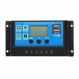 Regulator Controler Solar PWM 10A, 12V24V, 2 X USB Si LCD