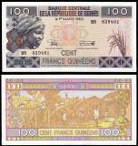 = GUINEA - 100 FRANCS - 2015 - UNC  =
