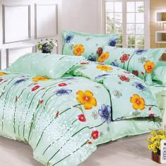 Lenjerie de pat Casa New Fashion flori colorate