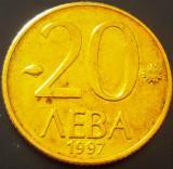 Moneda 20 LEVA - BULGARIA, anul 1997 *cod 1843, Europa