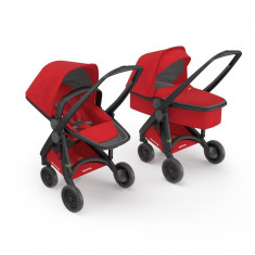 Carucior 2 In 1, Greentom, 100% Ecologic, Black Red