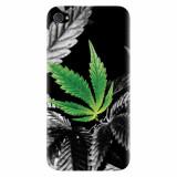 Husa silicon pentru Apple Iphone 4 / 4S, Trippy Pot Leaf Green