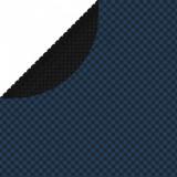 Folie solară plutitoare piscină, negru/albastru, 381 cm, PE, vidaXL