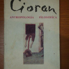 ANTROPOLOGIA FILOSOFICA de EMIL CIORAN,1991
