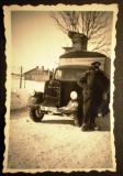 P.092 FOTOGRAFIE RAZBOI MILITAR GERMAN WWII WEHRMACHT CAMION Opel Blitz 9/5,8cm