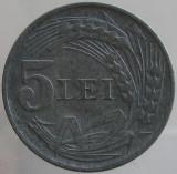 ROMANIA KM#61 - 5 Lei 1942 - ZINC