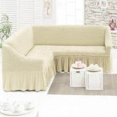 Husa pentru canapea tip Coltar culoare Bej Natur