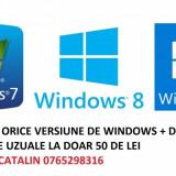 Instalare Windows 7, 8 ,10 + drivere + programe calculator/laptop Pitesti
