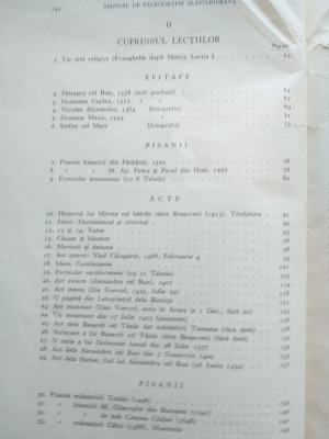 MANUAL DE PALEOGRAFIE SLAVO ROMANA-HENRI STAHL ,1936 foto