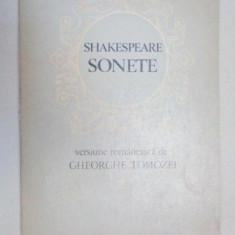 William Shakespeare Sonete - versiunea romaneasca de Gh.Tomozei