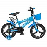 Bicicleta Copii Carpat C1400A, Roti 14inch, Frane C-Brake, Roti Ajutatoare cu LED (Albastru)